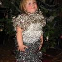 Платье Снежинки. Дизайнер Лиза, ассистент мама