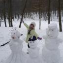 Ну всё!!! Снег выпал:))) Даже снеговика слепить пришлось !!!