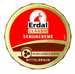 Крем для обуви в банке Erdal светло-коричневый 75 ml
