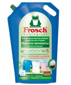Frosch Концентрированное жидкое средство для стирки Морские минералы